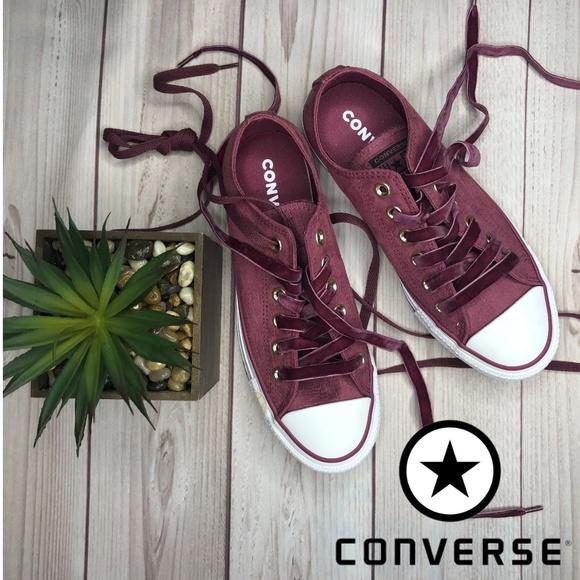 Converse CTAS Ox Vintage Wine Sneaker Size 7